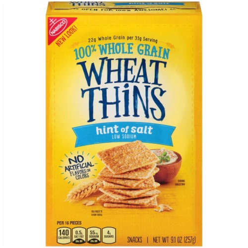 Wheat Thins Hint of Salt Low Sodium Crackers Perspective: front