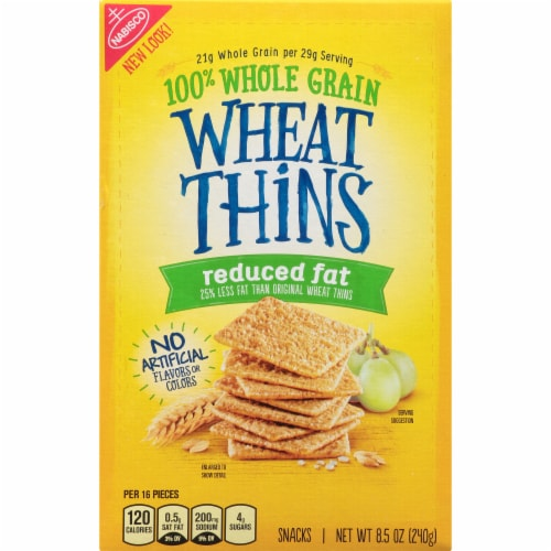 Wheat Thins Reduced Fat Crackers Perspective: front