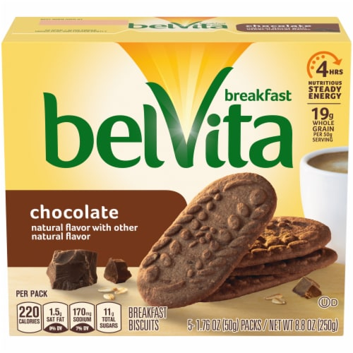 belVita Chocolate Breakfast Biscuits Perspective: front