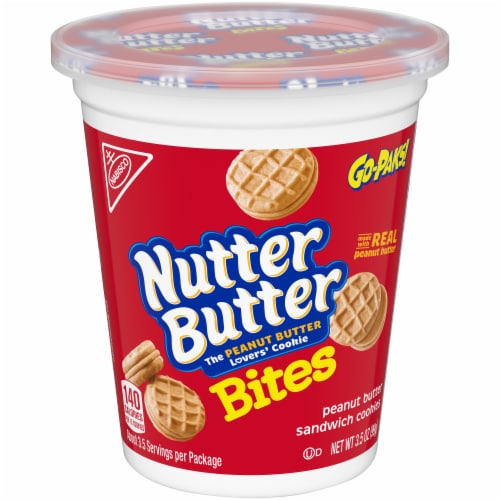 Nutter Butter Bites Peanut Butter Sandwich Cookies Go-Pak Perspective: front