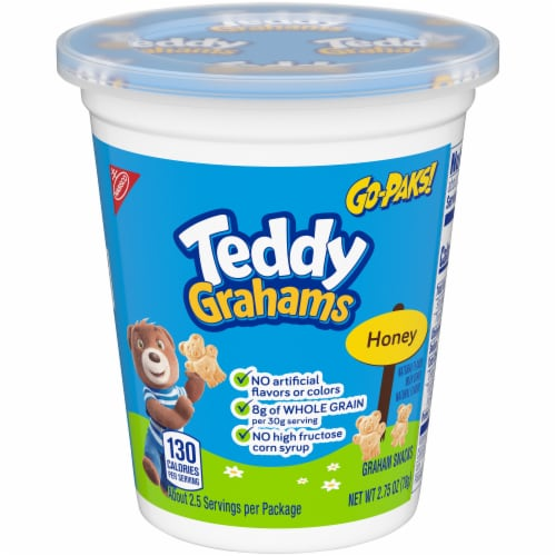 Teddy Grahams Honey Graham Snacks Go-Pak Perspective: front