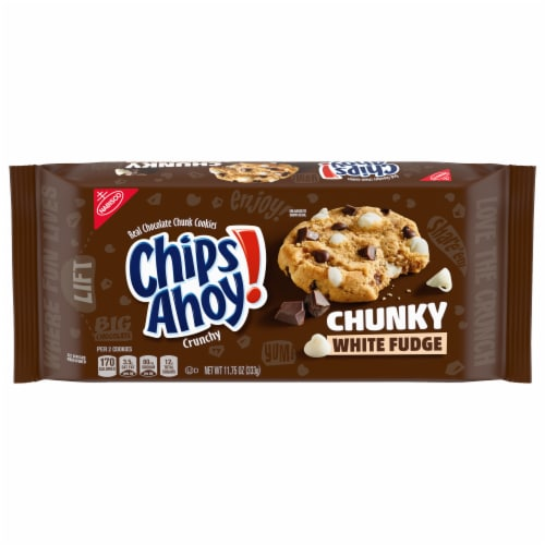 Chips Ahoy! Chunky White Fudge Cookies Perspective: front