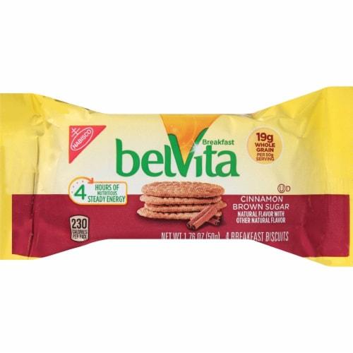 belVita Cinnamon Brown Sugar Breakfast Biscuits Perspective: front