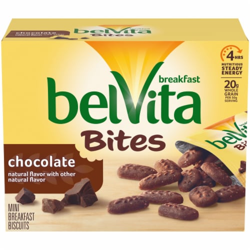 belVita Bites Chocolate Mini Breakfast Biscuits Perspective: front