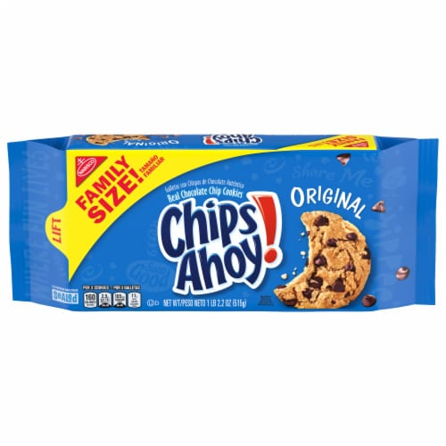 Chips Ahoy! Original Chocolate Chip Cookies Family Size Perspective: front