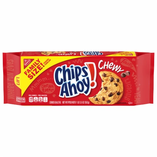 Chips Ahoy! Chewy Chocolate Chip Cookies Family Size Perspective: front