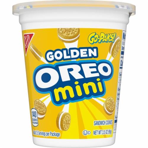 Oreo Mini Golden Sandwich Cookies G-Pak Perspective: front