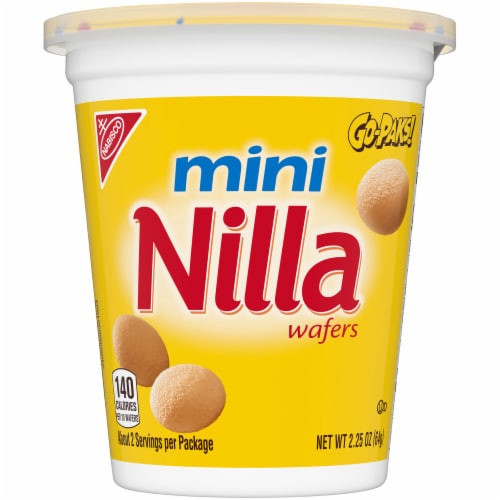 Nilla Wafer Mini Cookies Go-Paks Perspective: front