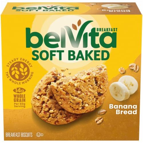 belVita Soft Baked Banana Bread Breakfast Biscuits Perspective: front