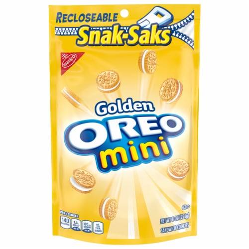 Oreo Mini Golden Sandwich Cookies Snak-Sak Perspective: front