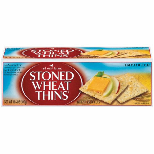 Red Oval Farms Stoned Wheat Thins Crackers Perspective: front