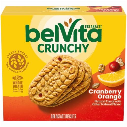belVita Cranberry Orange Breakfast Biscuits Perspective: front