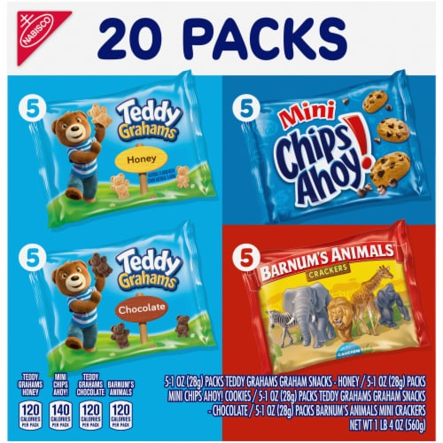 Nabisco Fun Shapes! Mini Cookies & Crackers Variety Pack Perspective: front