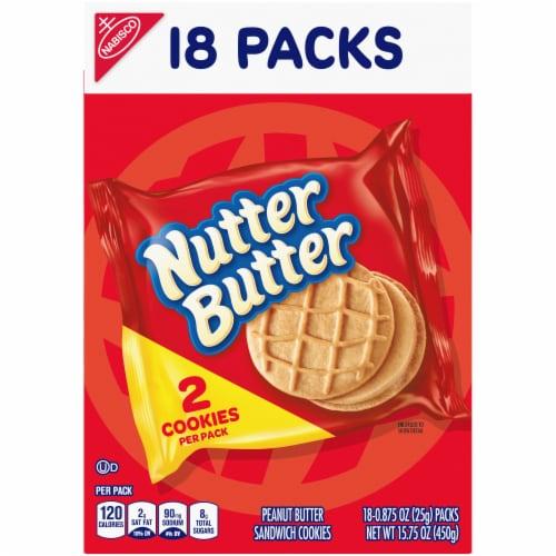 Nutter Butter Peanut Butter Sandwich Cookies Perspective: front