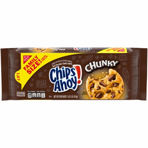 Chips Ahoy! Chunky Chocolate Chunk Cookies Family Size Perspective: front