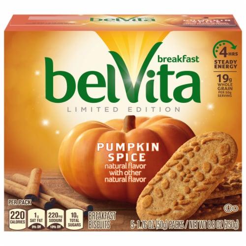 belVita Limited Edition Pumpkin Spice Breakfast Biscuits Perspective: front