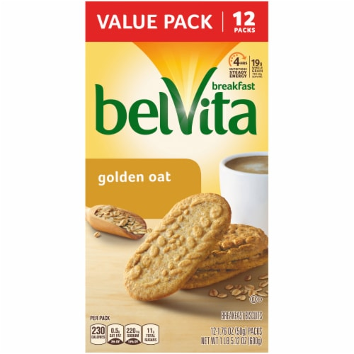 belVita Golden Oat Breakfast Biscuits Value Pack Perspective: front