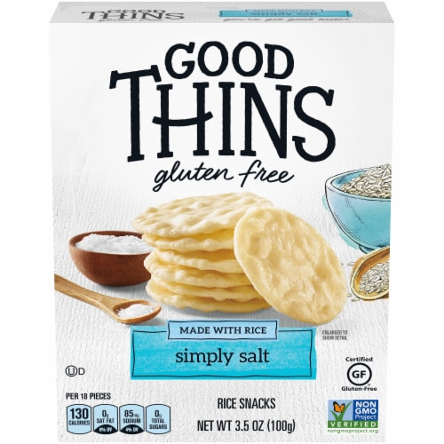 Good Thins Gluten Free Simply Salt Rice Snacks Perspective: front