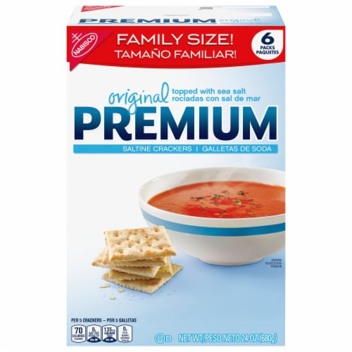 Premium Original Saltine Crackers Family Size Perspective: front