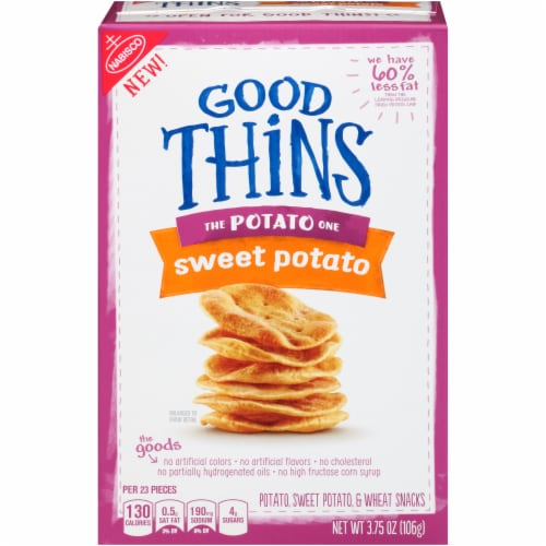 Good Thins The Potato One Sweet Potato Snack Crackers Perspective: front