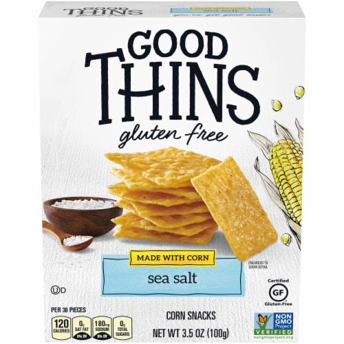 Good Thins Sea Salt Corn Snack Crackers Perspective: front