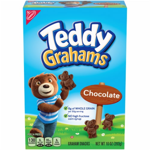 Teddy Grahams Chocolate Graham Snacks Perspective: front