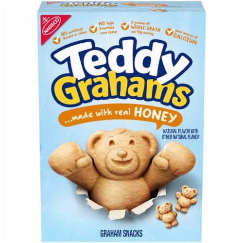 Teddy Grahams Honey Graham Snacks Perspective: front