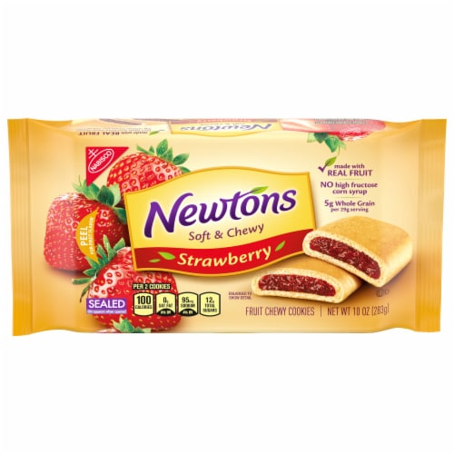 Newtons Strawberry Fruit Chewy Cookies Perspective: front