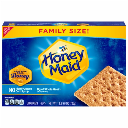 Honey Maid Honey Graham Crackers Family Size Perspective: front