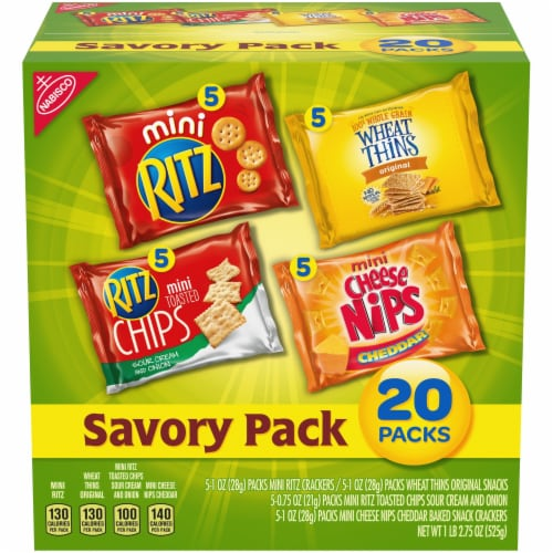 Nabisco Savory Snack Mix Variety Packs Perspective: front