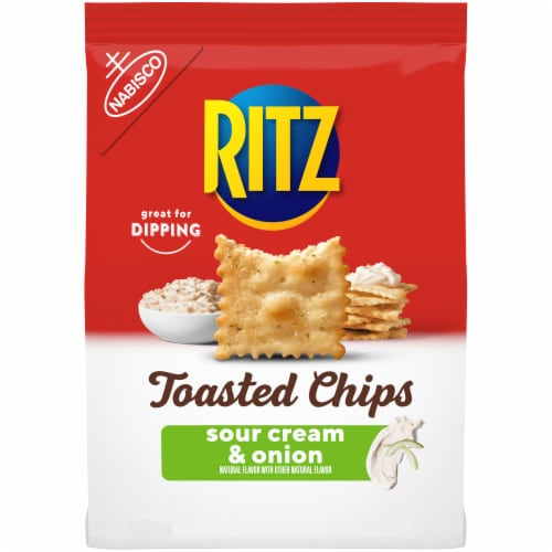 Ritz Sour Cream & Onion Toasted Chips Perspective: front
