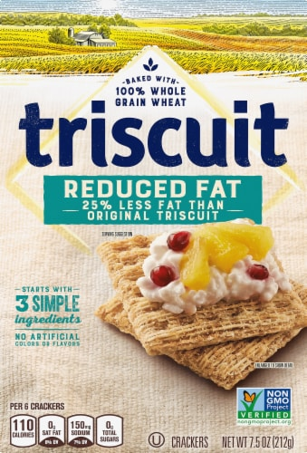 Triscuit Reduced Fat Original Crackers Perspective: front