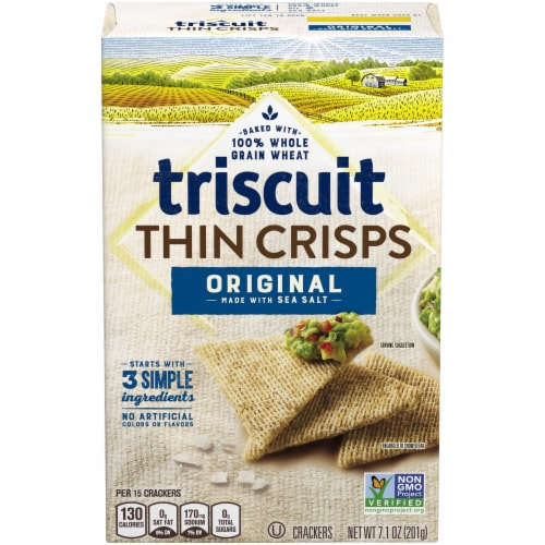 Triscuit Thin Crisps Original Crackers Perspective: front