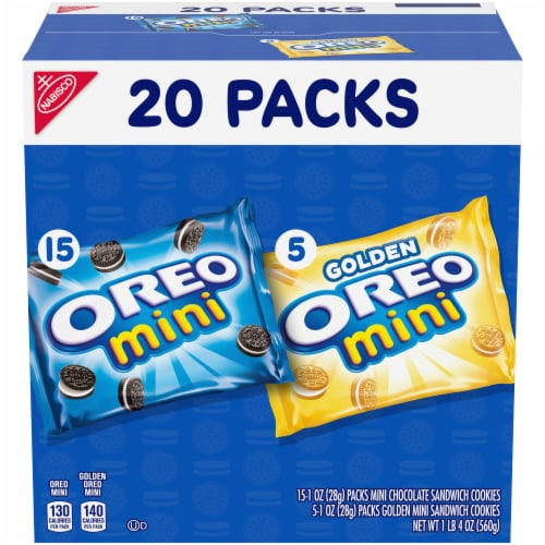 Oreo Mini Mix Sandwich Cookies Variety Pack 20 Count Perspective: front