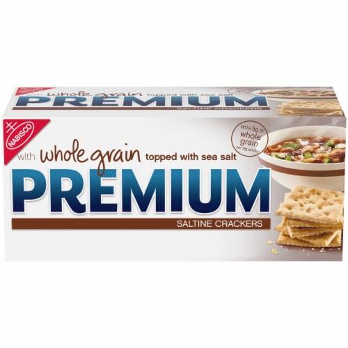 Premium Whole Grain Saltine Crackers Perspective: front
