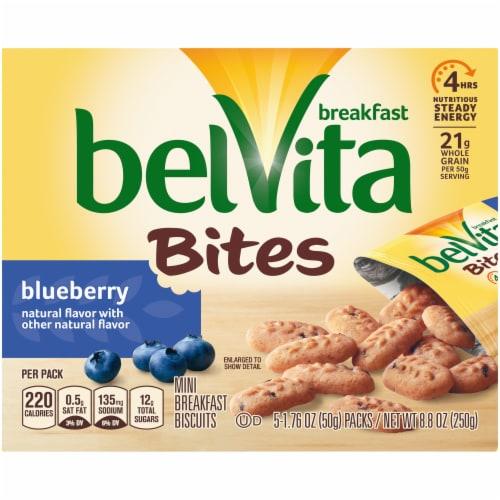 belVita Bites Blueberry Mini Breakfast Biscuits Perspective: front