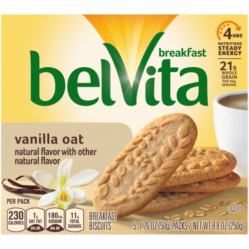 belVita Vanilla Oat Breakfast Biscuits Perspective: front