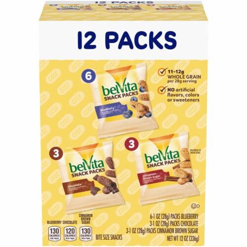 belVita Bites Breakfast Biscuits Snack Packs Variety Perspective: front