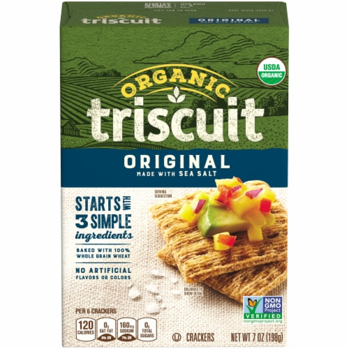 Triscuit Organic Original Crackers Perspective: front