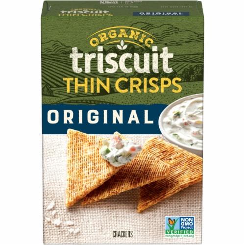 Triscuit Organic Thin Crisps Original Crackers Perspective: front