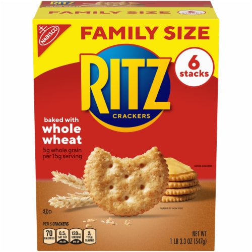 Ritz Whole Wheat Crackers Family Size Perspective: front