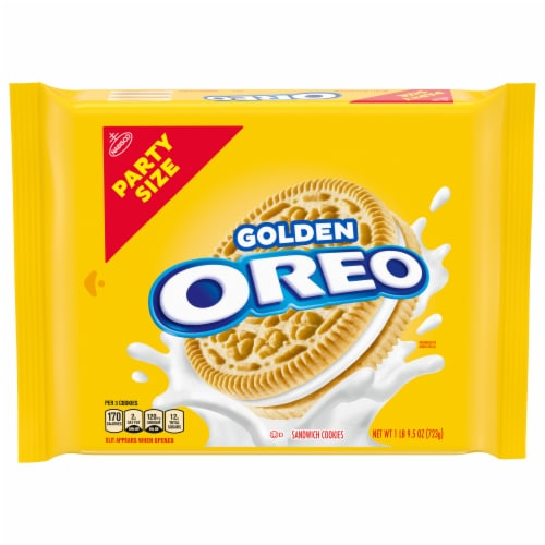 Oreo Golden Sandwich Cookies Party Size Perspective: front