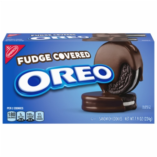 Oreo Fudge Covered Sandwich Cookies Perspective: front