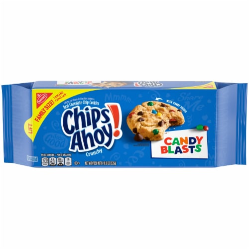 Chips Ahoy! Candy Blasts Chocolate Chip Cookies Perspective: front