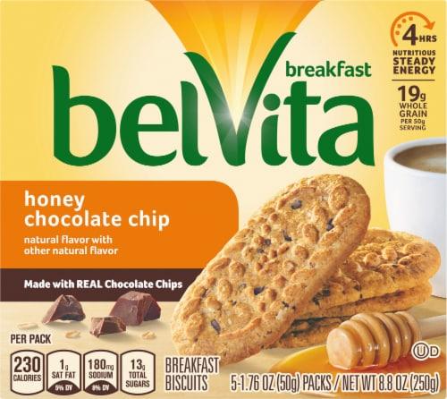 belVita Honey Chocolate Chip Breakfast Biscuits Perspective: front