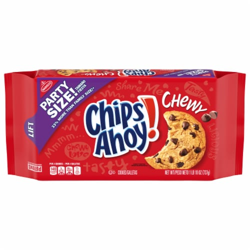 Chips Ahoy! Chewy Cookies Party Size Perspective: front