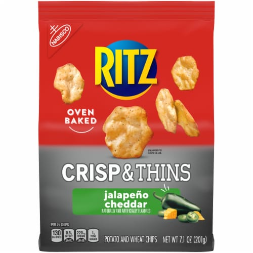 Ritz Jalapeno Cheddar Crisp & Thins Chips Perspective: front
