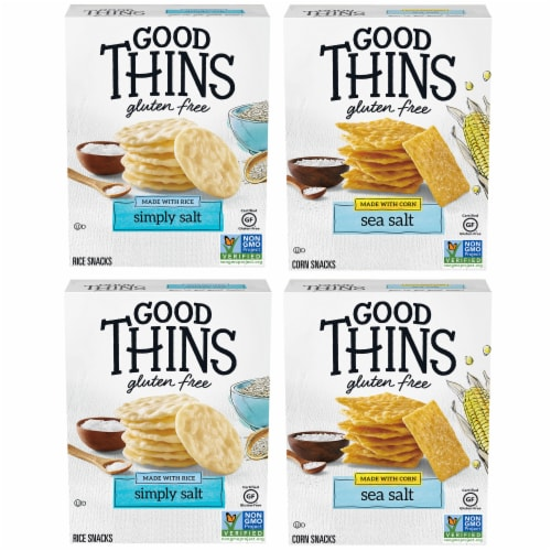 Good Thins Crackers 4 Count Variety Pack Perspective: front