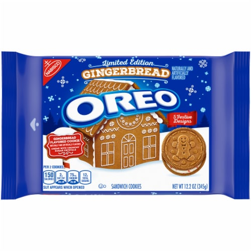 Oreo Limited Edition Gingerbread Sandwich Cookies Perspective: front