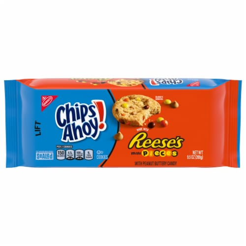 Chips Ahoy Reese's Mini Pieces Cookies Perspective: front